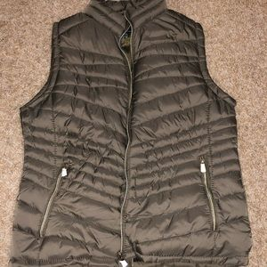 Nice Green Vest with Crystal Zippers